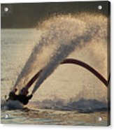 Flyboarder Only Showing Feet After Semi-circular Dive Acrylic Print