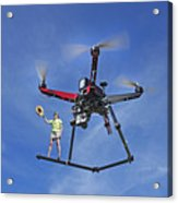 Flying A Drone Acrylic Print