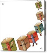 Flying Books02 Acrylic Print