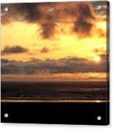 Flying Dog Sunset Acrylic Print