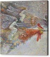 Flying Fairies. Monotype Acrylic Print