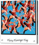 Flying Flamingos Acrylic Print