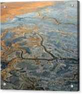 Flying From Fairbanks To Anchorage, Shooting In Airplane Acrylic Print