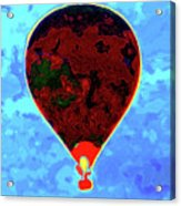 Flying High - Hot Air Balloon Acrylic Print