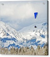 Flying High In Kandersteg, Switzerland Acrylic Print