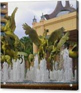 Flying Horses Of Atlantis Acrylic Print