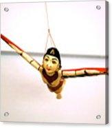 Flying Lady Acrylic Print