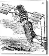Flying Machine, 1678 Acrylic Print