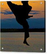 Flying Over Muskegon Lake Acrylic Print