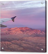 Flying Over The Mojave Desert At Sunrise Acrylic Print