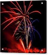 Flying Prom Fireworks Acrylic Print