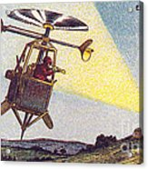 Flying Sentinel, 1900s French Postcard Acrylic Print