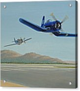 Flying The Air Show Circuit Acrylic Print