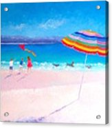 Flying The Kite Acrylic Print