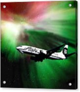 Flying Through Aurora  Acrylic Print
