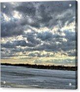 Flying Through Sun Rays 4 Acrylic Print