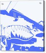 Flying Tiger Blue Acrylic Print