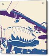 Flying Tiger Blue Purple  Acrylic Print