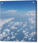 Flying To Toronto, July 2014 Acrylic Print