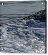Foam On The Rocks Acrylic Print
