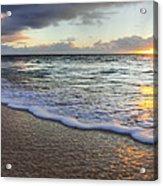 Foam Sunset Acrylic Print