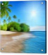 Focus On Palm Tree Acrylic Print