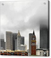 Fog Accents Of Seattle Wa Acrylic Print