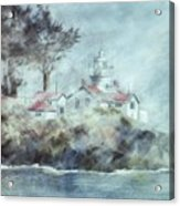 Fog At Batterypoint Lighthouse Acrylic Print