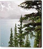 Fog Going Down At Lake Moraine Acrylic Print