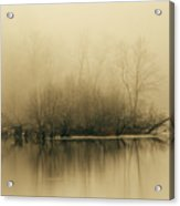 Fog Hovers Above The James River Acrylic Print