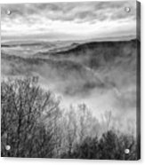Fog In The Mountains - Pipestem State Park Acrylic Print