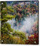 Fog In The Valley Acrylic Print