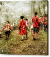 Fog Of War Battle Scene Acrylic Print by Randy Steele