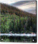 Fog On Bear Lake Acrylic Print