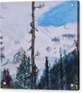 Fog On Mt. Rainer Acrylic Print