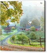 Fog On Sleepy Hollow Farm Acrylic Print