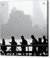 Fog On The Hudson Acrylic Print