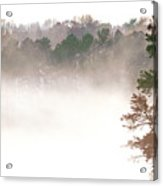 Fog On The Lake Acrylic Print