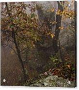 Fog On The Mountain Acrylic Print
