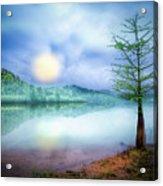 Fog Over The Lake Acrylic Print