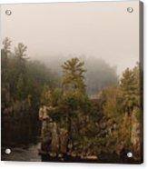 Fog Over The Saint Croix Acrylic Print
