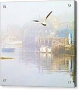 Fog Over West Dover - Digital Paint Acrylic Print