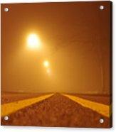 Fog Shrouded Road Acrylic Print