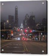 Foggy Austin Acrylic Print