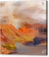 Foggy Autumnal Dream Acrylic Print