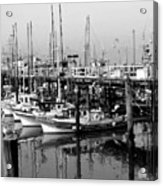 Foggy Boats Acrylic Print