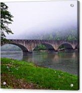 Foggy Bridge Acrylic Print