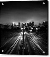 Foggy Cityscape  Acrylic Print