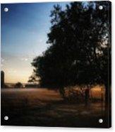 Foggy Country Morning  Acrylic Print