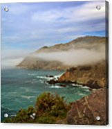 Foggy Day At Big Sur Acrylic Print